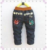 Wholesale Fashion Spring amp Autumn Children s Clothes Korean Straight Style Baby Cowboy Denim Jeans Pants Trousers