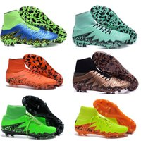 gold spikes - Newest mens Hypervenom generation soccer shoes High Fly knit ACC waterproof Hypervenom Phantom II FG Blue football boots