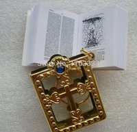 bible supply - silver gold frame Christian Gospel Christmas gifts crafts mini bible keychain God day school supplies prizes key ring