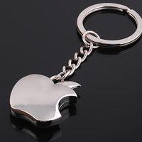 Women's apple belly ring - 2015 New arrival Novelty Souvenir Metal Apple Key Chain Creative Gifts Apple Keychain Key Ring Trinket Chaveiro K1005