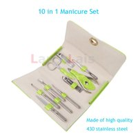Wholesale 10 in Stainless Steel Nail Clipper Manicure Set Grooming Pedicure Nipper Cutter WLL11806
