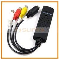 Wholesale Easycap USB Video TV DVD VHS Audio Capture Adapter USB DVR blister packing