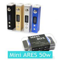 Wholesale Newest Mini Ares Box Mod W VV VW LED screen for battery vs for Smok TFV4 mini subtank