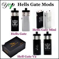 Yep Hell's Gate mod mod V2 mods de boîte de soutien 18650 double pile RDA réservoirs RBA