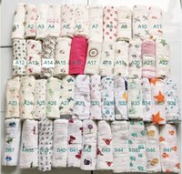 Wholesale 120 Aden Anais Bamboo Muslin Cotton Newborn Baby Bath Towel Aden And Anais Swaddle Blankets Multi Designs Functions baby swaddle blanket
