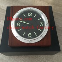 Wholesale Luxury Classical Wood Platinum Watch Brand Clock Gift Box Home Wall Clocks Blue Luminescent Quartz Movement Factory Supplier