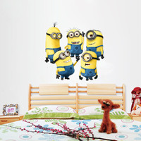 abstract paper - 2015 Hot Sell Despicable me cute minions wall stickers for kids rooms decorative adesivo de parede removable pvc wall decal