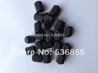 Wholesale Black color plastic Car wheel Tyre Tire Valve Cap VC8 air dust caps stem polybag promotion