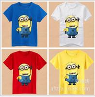 kids fashion - 2015 fashion Cartoon T shirt Minion Rush Despicable Me Pullover Short Sleeve Modal for Kids Children Boys Girls For yr Factory Free