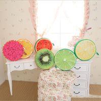 decorative fruit - cm Round Cute Fruit Shaped Plush Pillow Memory Foam Kids Seat Desk Cushion Best Gift For Children Birthday