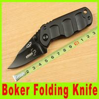 BOKER Plus Pequeño jabalí Mango Navajas Caza cuchillo plegable Negro lámina de aleación de aluminio 490X