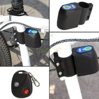 Wholesale 2015 New Bike Anti theft Lock Universal Cycling Security Vibration Alarm Wireless Remote Control Bicycle Lock candado bicicleta