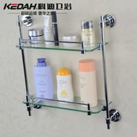 Wholesale Cody factory custom processing Double Glass Shelf Bathroom Accessories I214