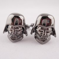 Wholesale New star wars designer Cufflinks For Men pairs back color material cufflink whoelsale retail