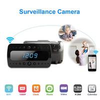 Wholesale Full HD P GB WIFI Camera IP night version Camera digital spy camera alarm Clock Mini Camcorders