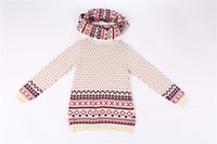 Wholesale Children Unique Cotton Beige Girl Sweater Pullover Casual Prayer Dinner Fashion Cute Best Seller Slim Thanksgiving Day Christmas Gift