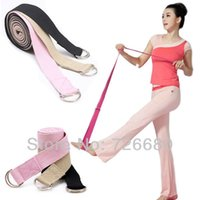 Cheap Free Shipping! Fitness Body Building Tension Exercise Sport Body Pull Stretching Stretch Strap D-Ring Pilates Yoga Belt 200-0401