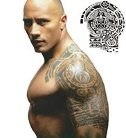arm shoulder tattoos - Waterproof Tattoo Sticker Wrestler Dwayne Johnson Half a Totem Tattoo Arm Sticker Shoulder Decoration Temporary Tattoo Stickers