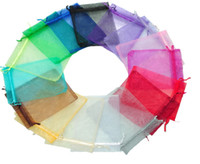 Wholesale Jewelry Bags MIXED Organza Jewelry Wedding Party Xmas Gift Bags Purple Blue Pink Yellow Black cm