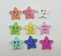 Cheap WBNSVK 18mm star shape Cute Kid's clothing Buttons MIx 120pcs DIY decorative wood Buttons Smile