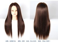 real doll - New arrival Brown quot Cosmetology Real Human Hair Training Mannequin DOLL HEAD Holder