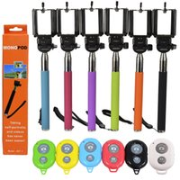 Wholesale Monopod Camera Tripod Self Portrait Device with Phone Holder Plus Bluetooth Shutter iPhone Samsung HTC Digital Camera