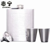 Wholesale Stainless steel hip flask set mini whiskey wine pot bottles gift outdoor travel drinkware wine accessories Y