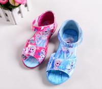 Wholesale 2015 New Frozen Princess Elsa anna fashion shoes children s fashion sandals baby girls summer cartoon lovely shoes