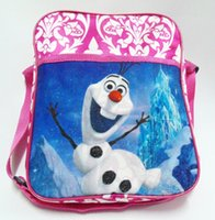 Strapless cartoon bags - 2015 Christmas Frozen The newest baby girl boy cartoon schoolbag children travel backpack shoulder bag