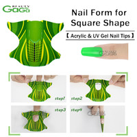 Wholesale BeautyGaGa Pro Supply roll Plane Shape Self Adhesive Gel Nail Form for nail Extension Nail Tool Stickers