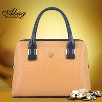 real leather handbags - 100 Real LeatherOne bag new autumn and winter fashion leather embossed lozenge hit color handbag shoulder diagonal handbags