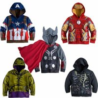 best clothing iron - best Children Hoodies Baby Boys Captain America Hoodies Jacket Avengers Hulk thor iron man Superhero cosplay Kids hoodie kids clothes