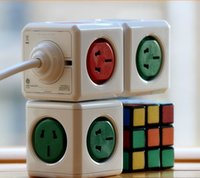 Wholesale New Arrival Multifunctional Wired USB Powercube Square Cube Mold Outlet Wall Socke With M Cable
