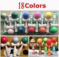 Wholesale Big size cm Kendama Ball Japanese Traditional Wood Game Toy Education Gift colors