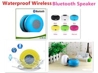 Wholesale High quality Portable Waterproof Wireless Bluetooth Speaker Shower Car Handsfree Receive Call mini Suction Phone IPX4 speakers Mic Promotion