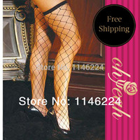 big fish net - HD8082 OHYEAH black ladies stocking with big fish net over the knee socks thigh sexy stockings