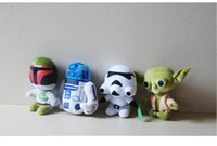 Wholesale 2016 New Star Wars Plush Toys inch Cartoon Movie Soft Dolls Gifts for Kids Super Deformed Boba Robot Stormtrooper Darth Stuffed designs