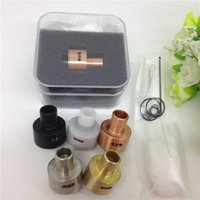 copper wire - Derringer RDA clone atomizer ss copper brass white black colors vaporizer with kanthal wire organic cotton for mods ego e cigs DHL Free