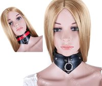 Wholesale BDSM Neck Collar Slave Colllars Bitch Bondage Restraints Gear Adult Sex Toys for Women ASL XQ0090 Black Red ASL XQ0108 Black