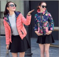 Wholesale 2015 New ArrivalTop Quality Women Down Jacket New Fashion Lady Both Sides Wear Winter Down Parkas