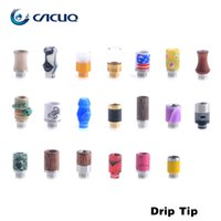 Wholesale Curved Drip Tips Skull Scorpion Spider Color Pattern Colorful Mouthpiece for E Cigarette drip tips for e cigs Style Instock