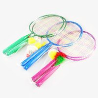 badminton rackets cheap - For Kids years old Badminton Rackets Cartoon Lovely Cheap Badminton Racquet Suit for Children L192