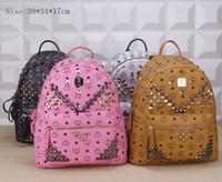 2015 nuovo zaino di modo MCM spalle zaino sacchetto di scuola di moda borsa per gli uomini e le donne 100% di buona qualità # trasporto libero M666
