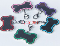 Wholesale Bone Shape Dog pendant Dog Cat Tag mixed colorful Pet Tags Fedex DHL