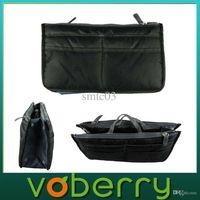 aluminum outings - Brand New Black Nylon Handbag Insert Women Lady Comestic Gadget Purse Organizer for Travel Outing