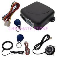 CE car alarm - Universal RFID Car Alarm System With Smart Push Start Button And Transponder Immobilizer Keyless Go System