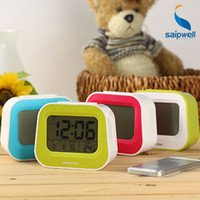 Wholesale large digital led desktop alarm electronic clock snooze function light sensitive cute alarm and features for bedroom home use