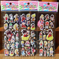 UV printing foam thermoforming baby dragon stickers - 2015 New Dragon Ball Z Goku Anime Cartoon Stickers D PVC Adhesive Bubble Stickers Kids Classic Toys Craft For baby Children s gifts