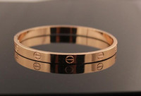 Wholesale New Arrival High Quality Love Forever Bangle Rose gold Plated Bracelet for couple