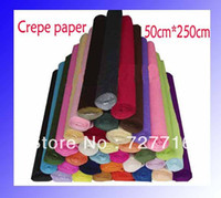 Wholesale Gift packing crepe paper Floral wrapping material flower packing wavy paper cm cm roll